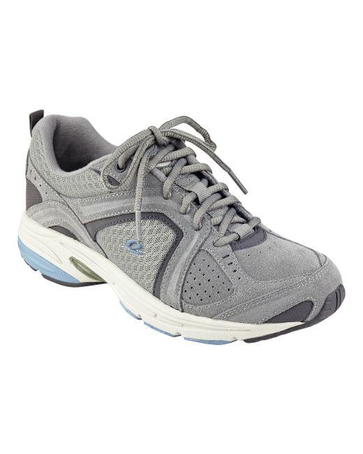 Lyst Easy Spirit Zamper Suede Walking Shoes In Gray