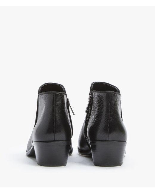 sam edelman leather petty boot in black lyst