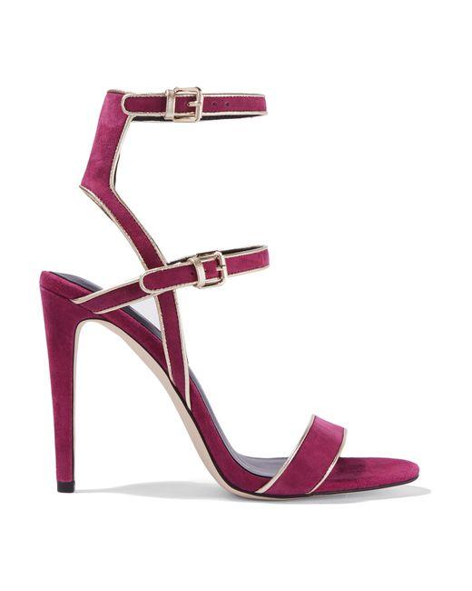 Rebecca Minkoff | Purple Rosalie Suede Sandals | Lyst