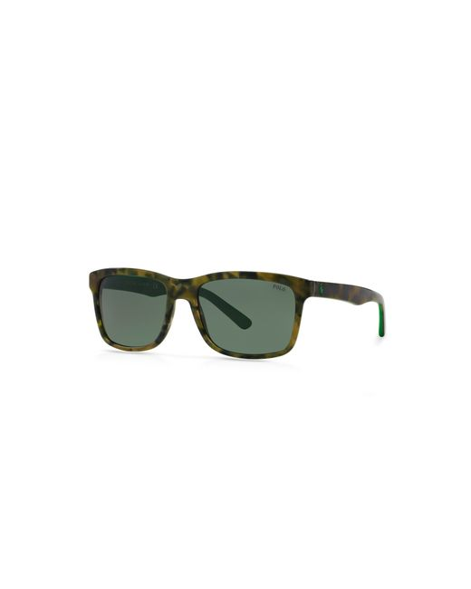 Polo Ralph Lauren | Brown Pony Square Sunglasses for Men | Lyst