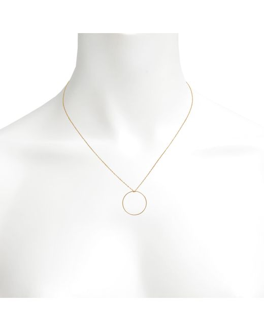 Ginette NY | Pink Baby Cercle Rose Gold Necklace | Lyst
