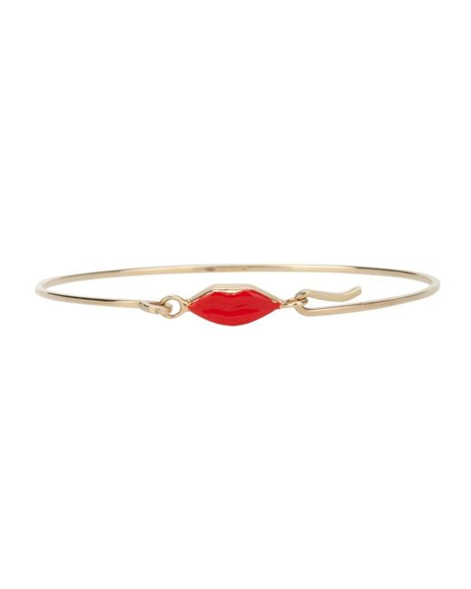 Delfina Delettrez | Metallic 'grandma Lips' Bracelet | Lyst