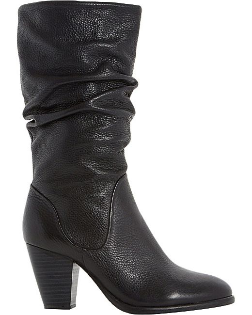 Dune | Multicolor Rossy Block Heeled Slouched Calf Boots | Lyst