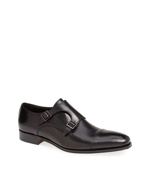 To Boot | Black 'grant' Double Monk Shoe for Men | Lyst
