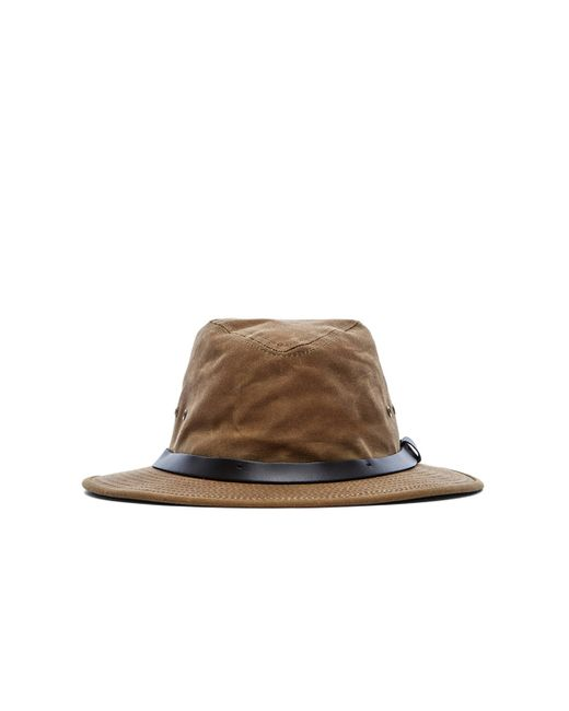 Filson Packer Hat: Filson Tin Cloth Packer Hat In Brown For Men