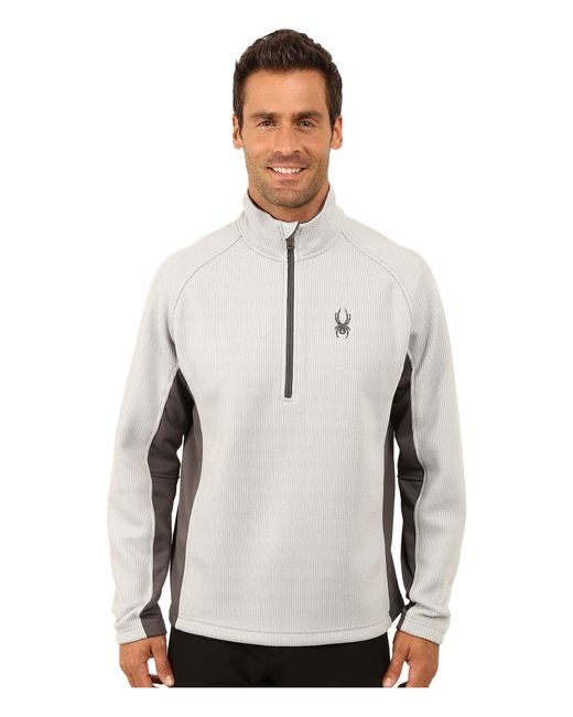 Spyder | Gray Outbound Half Zip Mid Weight Core Sweater for Men | Lyst