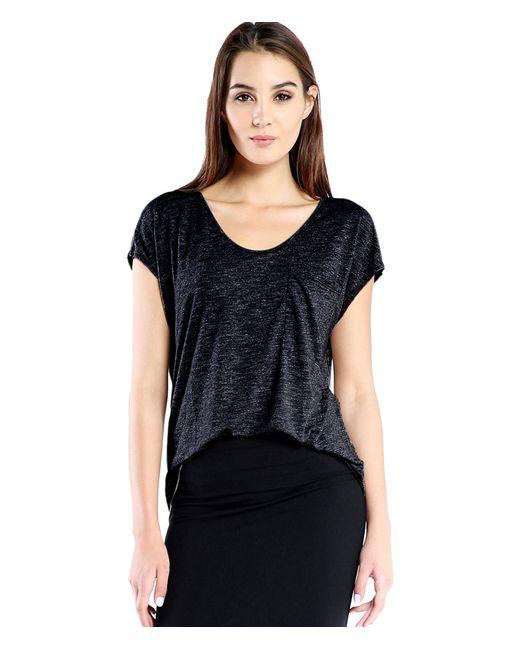 Michael Stars | Black Short Sleeve Soft V-neck With Pocket | Lyst
