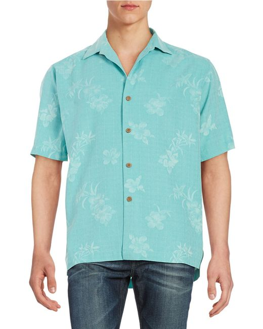 Tommy Bahama Aloha Silk Floral Shirt In Blue For Men Lyst