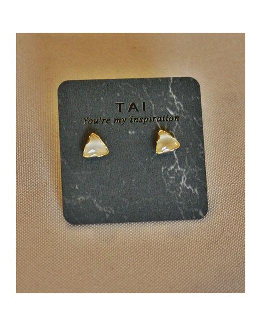 Tai | Metallic Triangular Cat's Eye Stud | Lyst