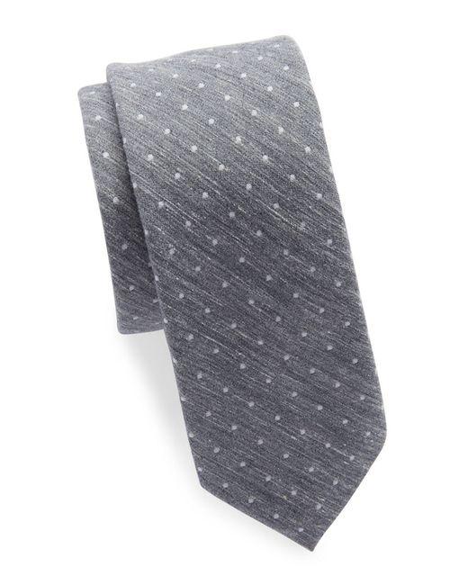 Original Penguin | Gray Silk And Cotton Tie for Men | Lyst