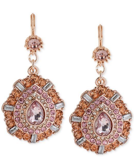 Betsey Johnson   Pink Faceted Bead Teardrop Earrings   Lyst