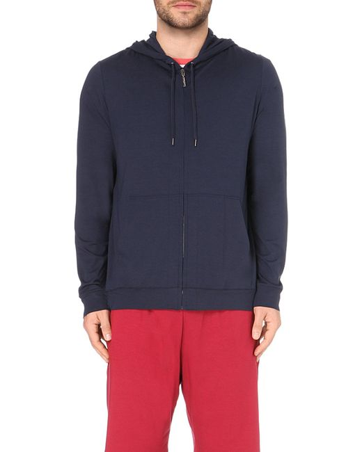 Derek Rose | Blue Basel Jersey Hoody for Men | Lyst