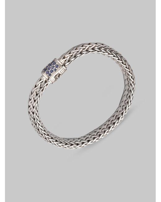 John Hardy   Metallic Classic Chain Sapphire & Sterling Silver Medium Bracelet   Lyst