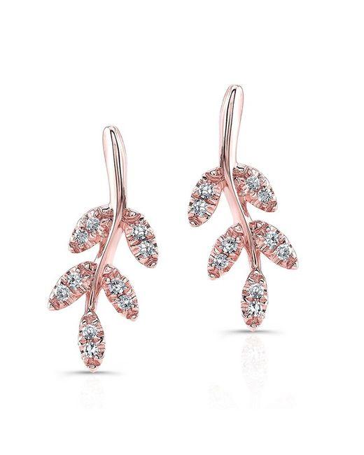 Anne Sisteron | Multicolor 14kt Rose Gold Diamond Ivy Stud Earrings | Lyst