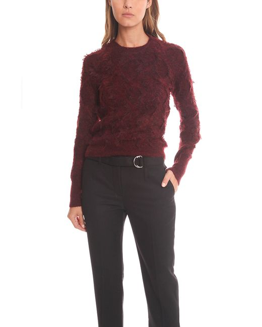 3.1 Phillip Lim | Red Shredded Jacquard Knit Sweater | Lyst