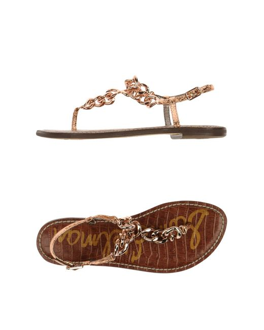 Sam Edelman | Metallic Thong Sandal | Lyst