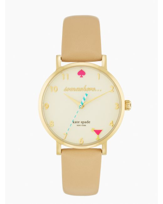 kate spade new york | Natural 5 O'clock Metro Watch | Lyst