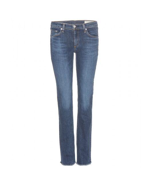 Rag & Bone   Blue The Skinny Mid-rise Jeans   Lyst