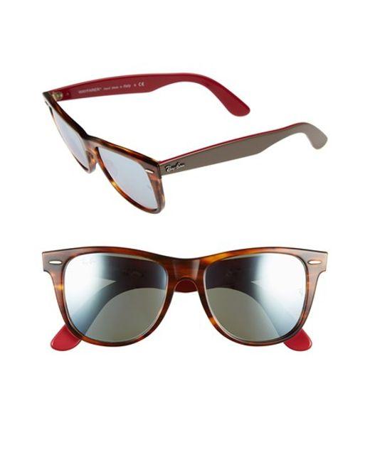 c51a75fd94581 Ray-ban   39 wayfarer  39  54mm Sunglasses - Striped Havana