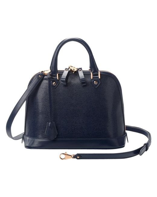 Aspinal | Blue Mini Hepburn Leather Bowling Handbag | Lyst