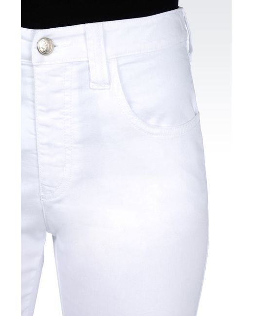 Armani Jeans | White 5-pocket Trousers In Stretch Cotton | Lyst