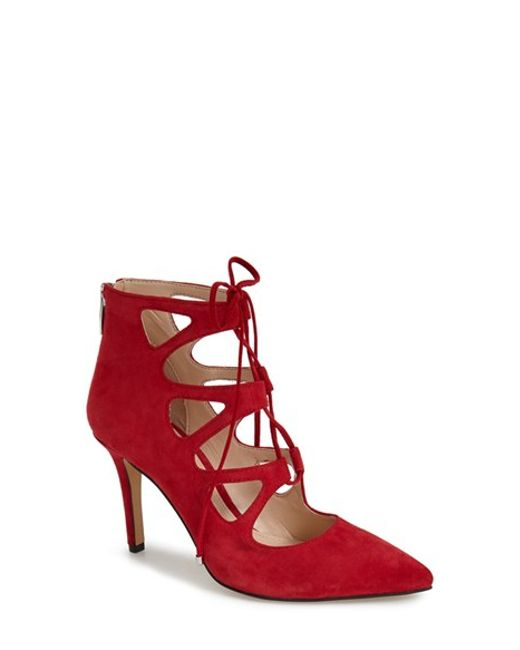 Vince Camuto | Red Bodell Lace-Up Pumps | Lyst