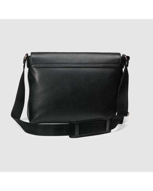 301387568657 Gucci Mens Leather Messenger Bag W/web Black | Stanford Center for ...