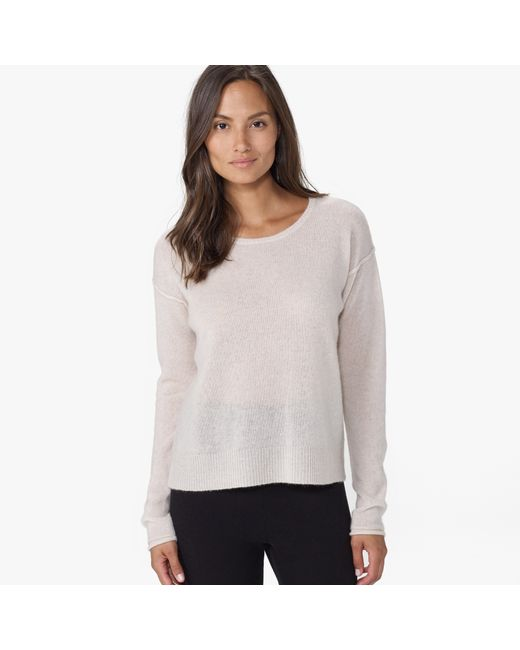 James Perse | Gray Cashmere Loose Gauze Crew Neck | Lyst