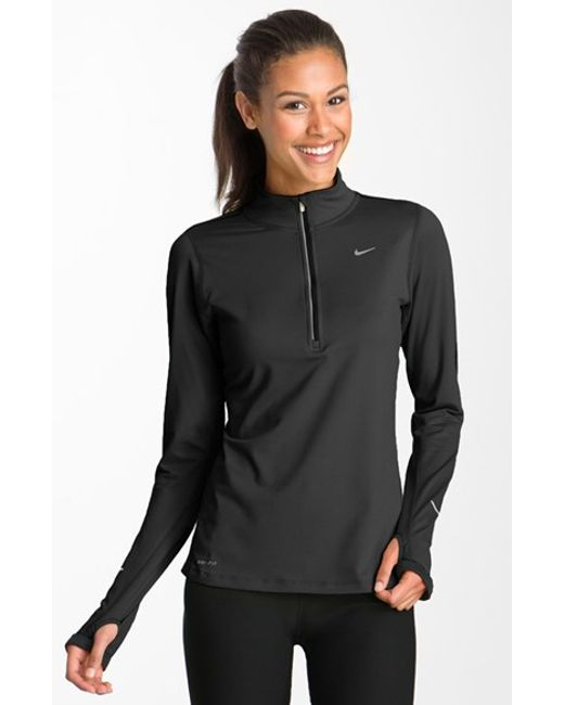 Nike | Black 'element' Dri-fit Half Zip Performance Top | Lyst