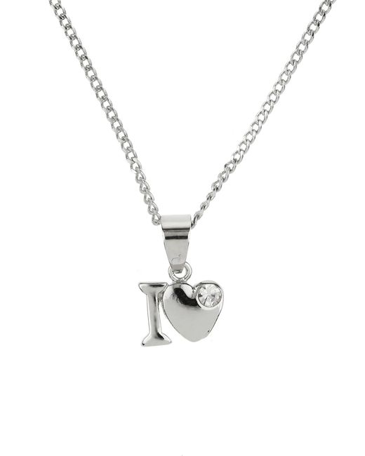 Mikey | Metallic Small I Love Necklace | Lyst