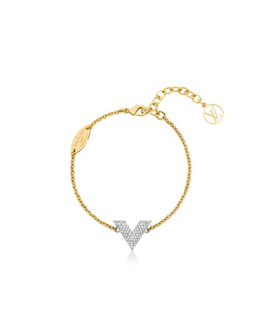Louis Vuitton | Metallic Essential V Strass Bracelet | Lyst