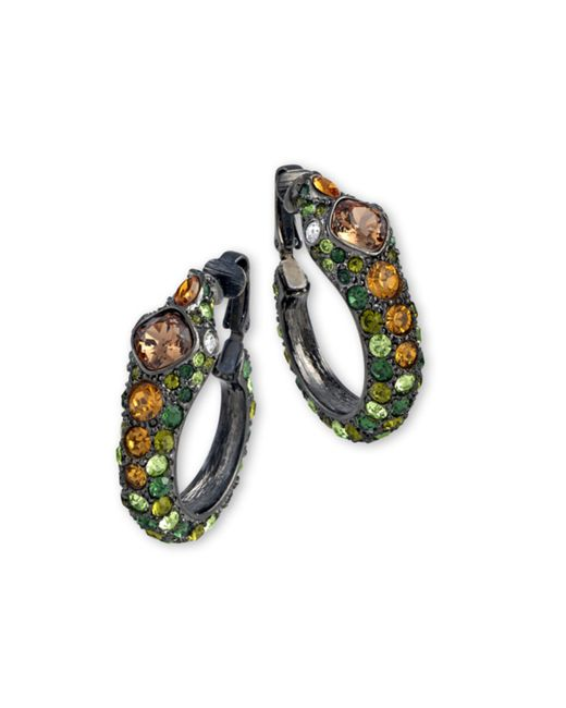 Kenneth Jay Lane | Multicolor Multi Green Snake Hoop Clip Earring | Lyst