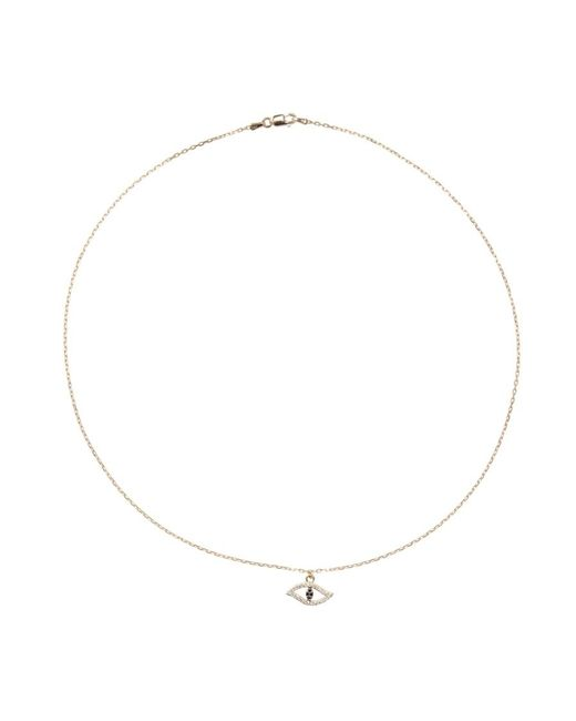 Khai Khai | Metallic Evil Eye Necklace | Lyst