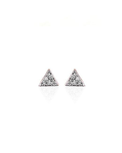 Kismet by Milka | Metallic Geometry Triangle Pave Stud Earrings | Lyst