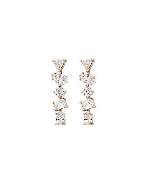 Kimberly Mcdonald - Pink Irregular Diamond Bar Stud Earrings - Lyst