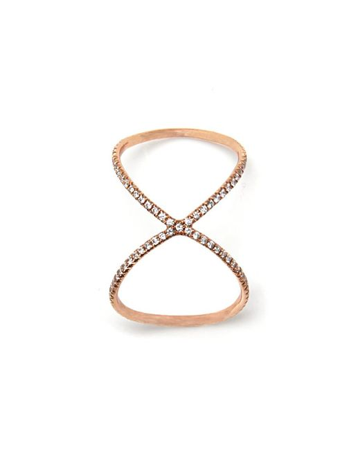 Anita Ko - Pink Rose Gold Super 8 Ring - Lyst