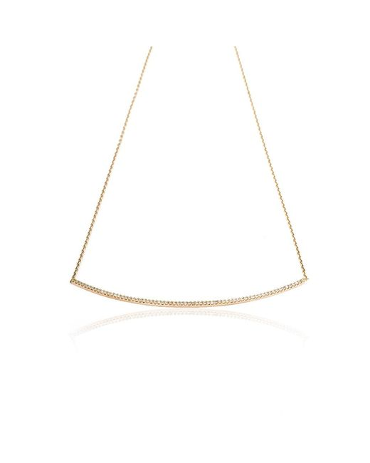 Kismet by Milka | White Lumiere Large Diamond Bar Necklace | Lyst