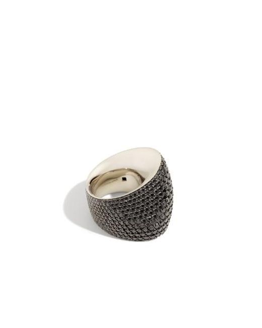 Vhernier | Editorialist Exclusive: Tonneau Ring In White Gold And Black Diamonds | Lyst