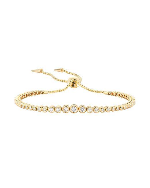 Jemma Wynne - Small Prive Luxe Diamond Slider Bracelet In Yellow Gold - Lyst