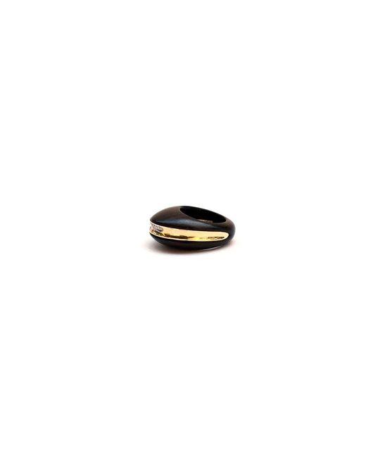 Kara Ross   Black Gold, Diamond And Ebony Section Ring   Lyst