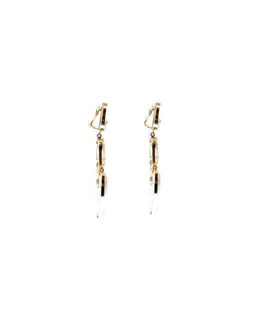 Kara Ross | Metallic Gold, Quartz And Diamond Arrow Earrings | Lyst