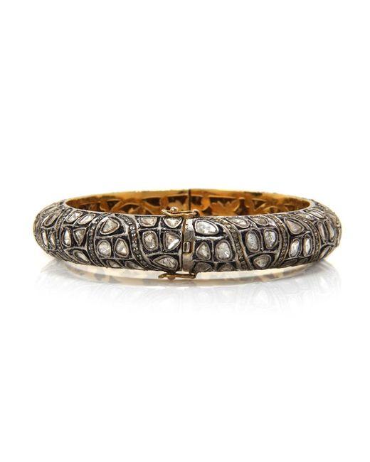 Sanjay Kasliwal | Metallic Rounded Diamond Bracelet | Lyst