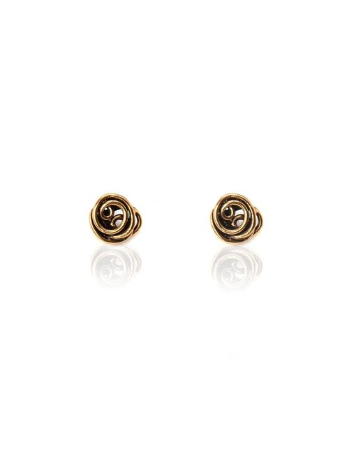 Oscar de la Renta | Pink Wire Rose Button Earring | Lyst