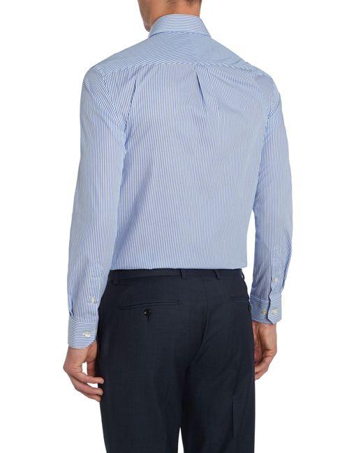 Howick | Blue Fairbanks Bengal Stripe Shirt for Men | Lyst