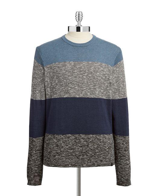 DKNY | Gray Block Striped Pullover for Men | Lyst