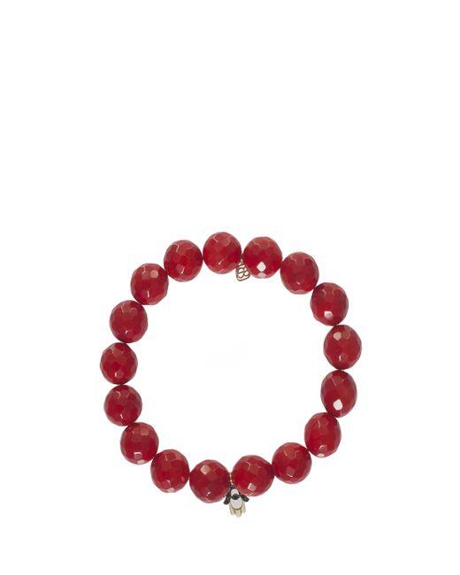 Sydney Evan | Red Diamond Hamsa Charm Bracelet | Lyst