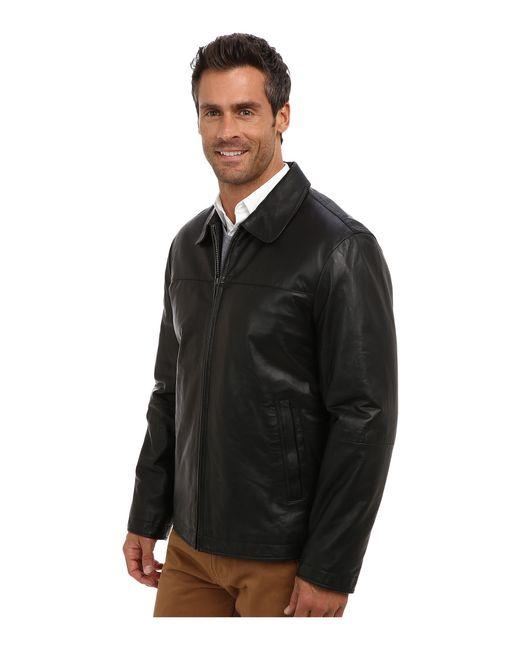 Perry Ellis   Black Leather Bomber Jacket Ep620330 for Men   Lyst