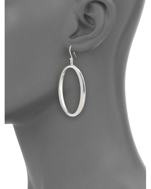 Ippolita | Metallic Glamazon Sterling Silver Oval Drop Earrings | Lyst