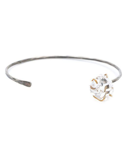 Melissa Joy Manning   Metallic 14 Karat Gold And Oxidized Silver Herkimer Diamond Cuff   Lyst