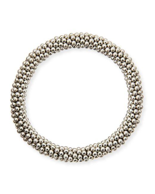 Meredith Frederick   Metallic Andie Sterling Silver Bead Bracelet   Lyst